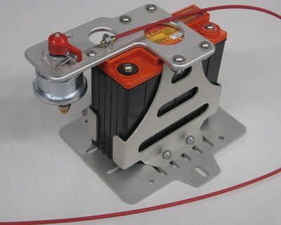Rennline 2005+ Audi A4 Battery Mount Kit Odyssey 680-Switch Mount Silver
