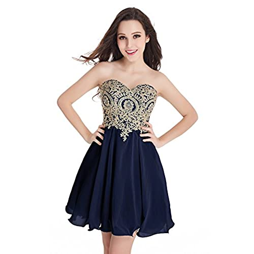 Navy Blue and Gold Wedding Party Dress: Amazon.com
