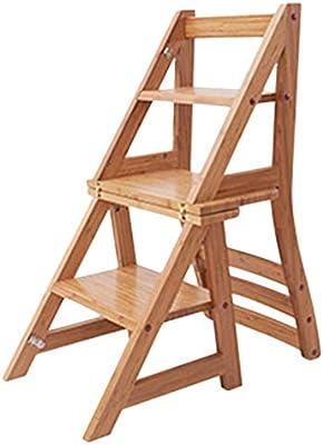 CAIJUN Escalera Plegable Bambú Casa Multifuncional Uso Dual Carbonización Alpinismo Necesito Instalar Escalera De 4 Escalones Doble Uso (Tamaño : 38x62x90cm): Amazon.es: Hogar
