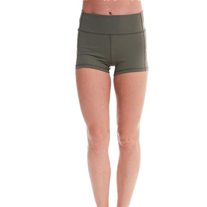 SKKG Damen Sport Kurz Yoga Tights Shorts, High Wasit Shorts
