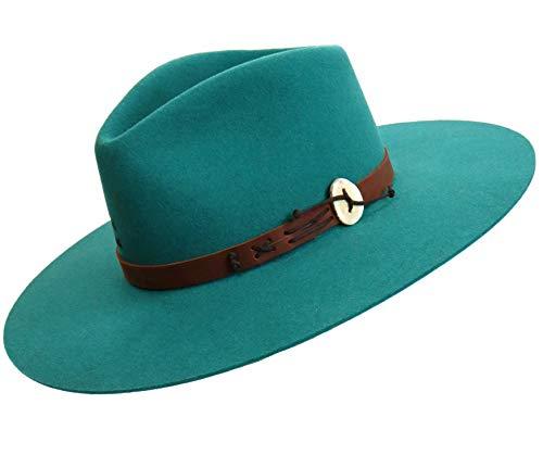 (Charlie 1 Horse Teepee Wool 4X Felt Hat, Teal)