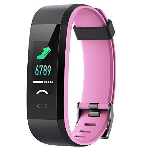 Willful Pulsera Actividad, Pulsera Actividad Inteligente Pantalla Color Reloj con Pulsómetro Impermeable IP68 Podómetro…