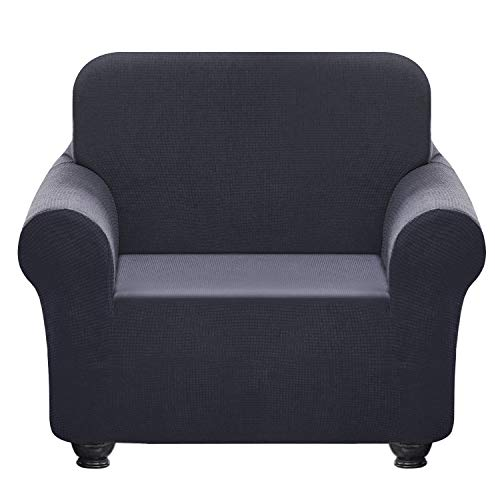 - Chelzen Stretch Sofa Covers 1-Piece Polyester Spandex Fabric Living Room Couch Slipcovers (Chair, Dark Gray)