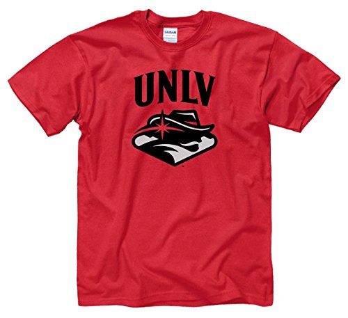 Unlv T-shirts - Campus Colors UNLV Rebels Adult Arch & Logo Soft Style Gameday T-Shirt - Red, Small