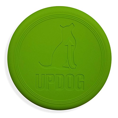 Dog Frisbee | Made in USA | UpDog Products Small 6-Inch Flying Disc for Dogs (Green) by UpDog Products