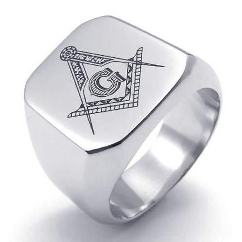 KONOV Freemason Masonic Polished Stainless