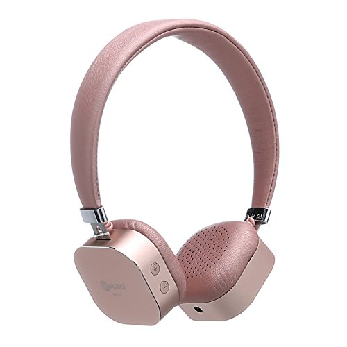 Contixo KB-100 Wireless Kids Headphones, Volume Safe Limit 85db, On-The-Ear Bluetooth Headphones, Kids Adjustable Headset (Pink)