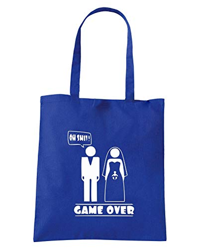 Borsa Shopper Royal Blu MAT0066 OH SHIT GAME OVER
