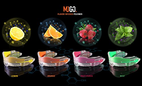 MOGO. Flavored 2 Pack Mouth Guards - Adult Sports Mouthguard for Ages 11 and Up - Mouthpiece for MMA, Football and Lacrosse - Tether Strap, Fitting Instructions and Carry Case (Orange) by MOGO. (Image #7)