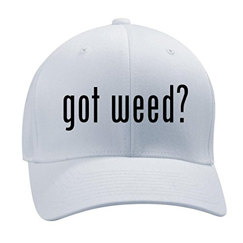 got-weed-A-Nice-Mens-Adult-Baseball-Hat-Cap-White-LargeX-Large