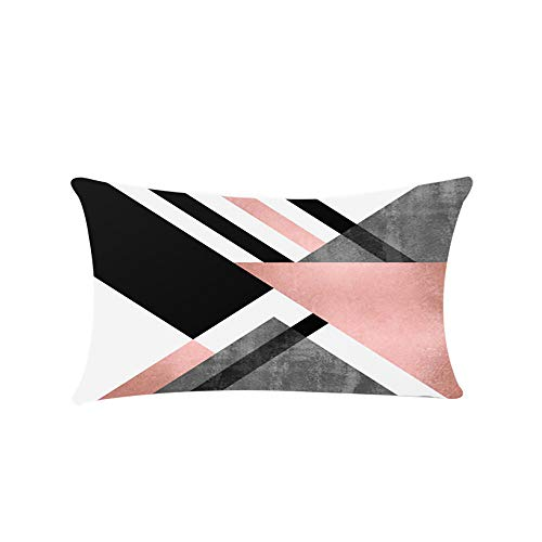 (ROLYPOBI Throw Pillows for Couch Chic Home Solid Sheet Set Super Soft with Bonus Printed Geometric Pattern)
