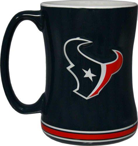 Houston Mug - NFL Sculpted Coffee Mug, 15 Ounces, Houston Texans