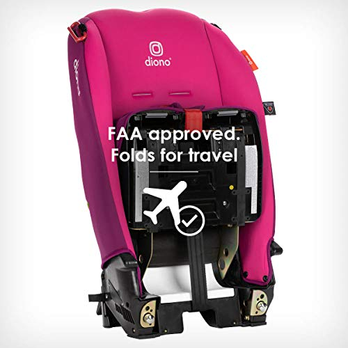 41t5MQaChML - Diono Radian 3RX 3-in-1 Rear And Forward Facing Convertible Car Seat, Head Support Infant Insert, 10 Years 1 Car Seat Ultimate Safety And Protection, Slim Design - Fits 3 Across, Pink Blossom
