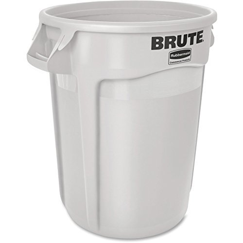 - RCP2632WHI - Rubbermaid-White Round Brute Container 32 Gallon