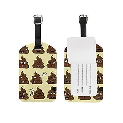 f3f08e0ecc85 MRMIAN Funny Poop Emoji Emotion Luggage Tag for Baggage Suitcase Bag ...