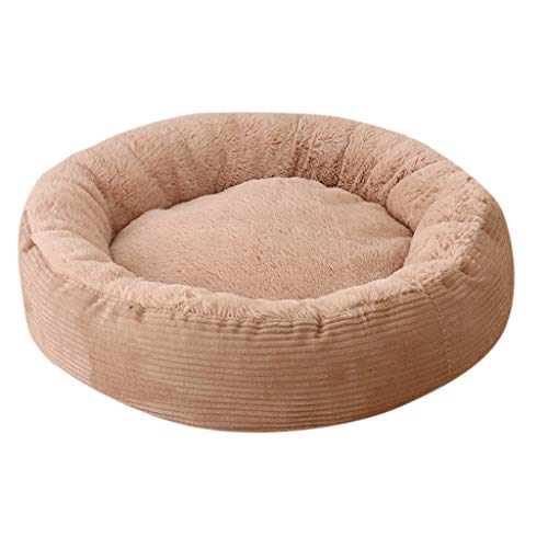 (AKwell Pet Dog Cat Bed Puppy Cushion House Soft Warm Kennel Round Thick Pet Nest)