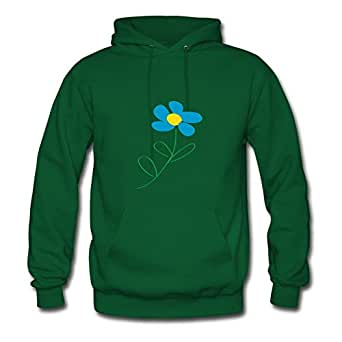 Blue Flower Dorastanl X-large Women Green Personalized Hoodies