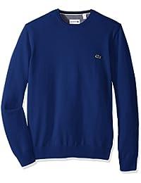 Lacoste Men's Seg 1 Cotton Jersey Crewneck Sweater,...