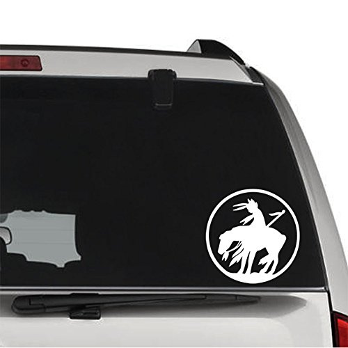 Last Ride End of Trail Indian Horse PERMANENT Vinyl Decal Sticker For Laptop Tablet Helmet Windows Wall Decor Car Truck Motorcycle - Size (10 Inch / 25 Cm Tall) - Color (Gloss White)