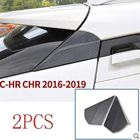 1Pair Carbon-Faser-Art-Heckscheibe Seiten Spoiler-Fl/ügel-Streifen Schutz Trim Fit for Toyota CHR CHR 2016-2019 NO-LOGO Shiy-RAO Farbe : Carbon Color