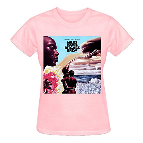 Firebo Miles Davis Bitches Brew Short Sleeve Crew-Neck Tee Shirts For Women (Tai Pan Pack)