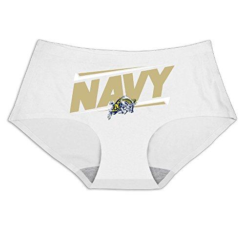 (MeiSXue Women's Navy Midshipmen USNA Teams Logo Ice Silk Briefs)