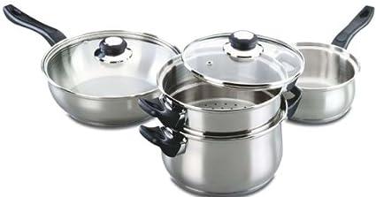 Fagor - Bateria De Cocina Palma, 6 Piezas, 1 Cacerola, 1 Cazo,