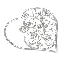 MagiDeal Love Heart Shape Metal Cutting Dies Cutter Stencil for Scrapbooking Album Paper Card Making DIY