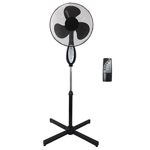 Gr8 Home Black Electric Remote Controlled 16' Standing Pedestal Stand Fan...