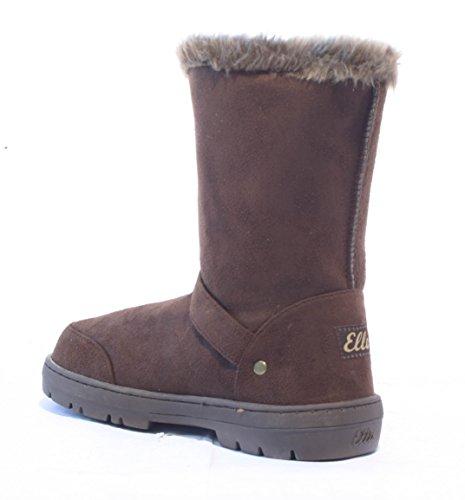 Ella Shoes Libby - Botas de Material Sintético Para Mujer Marrón Marrón eLcen7g