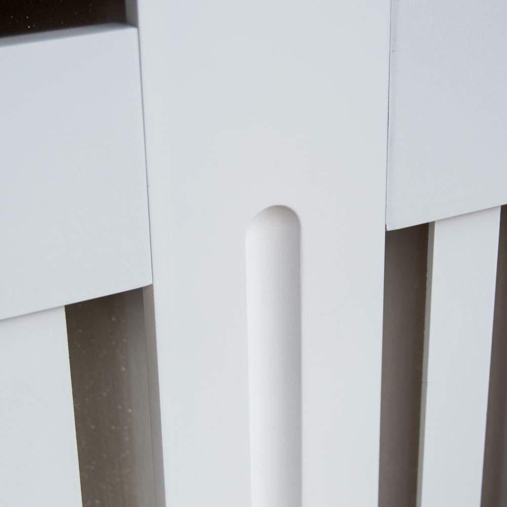Home Discount Chelsea radiatore Copertura Grill a doghe Moderno mobiletto a doghe in Legno MDF Laccato Bianco Extra Large