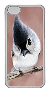 Customized iphone 5C PC Transparent Case - Baby Parrot Cover