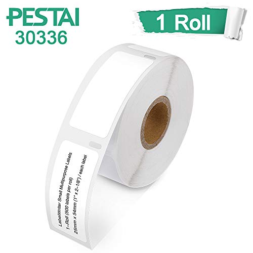 1 Roll DYMO 30336 Compatible 1 x 2-1/8 Small Multipurpose Address UPC Barcode Labels for Dymo Labelwriter 450, 450 Turbo, 4XL & More