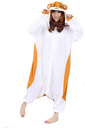 Animal Onesie Pajama for Adult and Teens (Large, Hamster) (Hamster Costume For Adults)