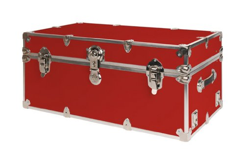 SecureOnCampus College Dorm Storage Trunks / Footlockers Small - Red by SecureOnCampus (Image #7)