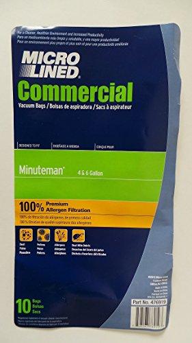 10 Minuteman 4 & 6 Gallon Wet / Dry Vacuum Bags, fits OEM 38
