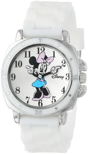 Disney Kids' MN1106 Minnie Mouse Watch with White Rubber Band