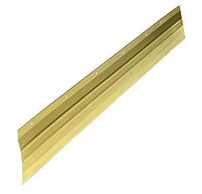 WJ Dennis & Company 4018 Bronze Metal Seal Weatherstrip, 1-1/8-Inch X 17-Foot, Metal Seal, Bronze