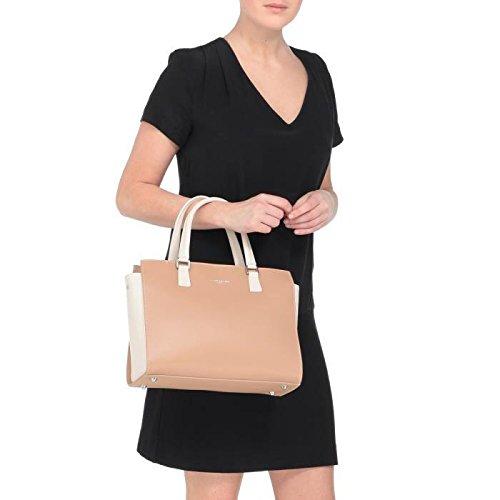 Lancaster sac a main cuir de vachette constance 31 cm ivoire femme