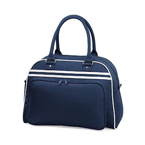 BagBase - Sac de Bowling Rétro, Sac de Sport Bagbase Bleu Marine / Blanc
