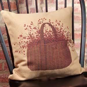Basket Throw Pillow Case Shell Decorative Pillowcase 18 X 18