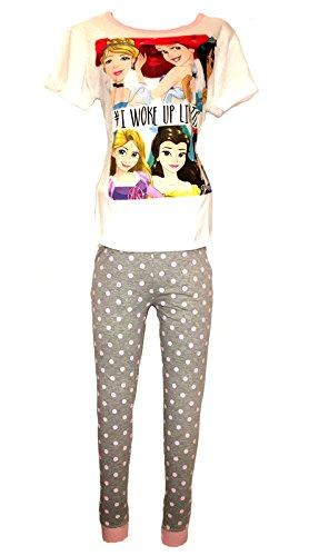 Disney - Pijama - Liso - para Mujer Princess - White Woke up L