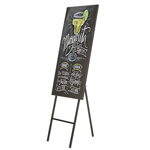 MyGift Freestanding Metal Erasable Chalkboard Sign, Decorative Sandwich Message Chalkboard Easel