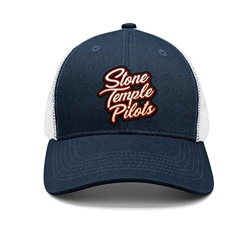 WaveC Unisex Stone-Temple-Pilots-STP- Adjustable Mesh Trucker hat Baseball Caps