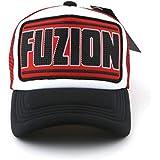 Fuzion Classic Red Black Mesh cap