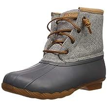Sperry Womens Saltwater Emboss Wool Boots, Dark. Grey, 9.5