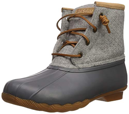 Sperry Womens Saltwater Emboss Wool Boots, Dark. Grey, 7