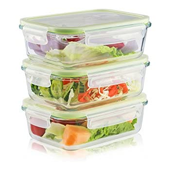 Etonnant LIVING EXPRESS 6 Pieces Glass Food Storage Container Set With Snap Locking  Lid,Airtight,