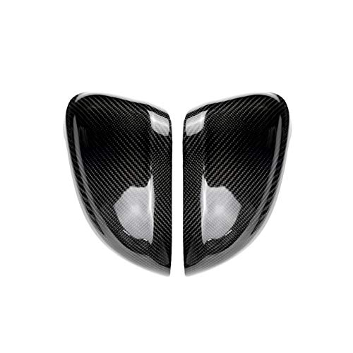 Carbon Fiber Door Wing Mirror Passenger Side Driver Rearview Mirror Replacement Cover Trim for Audi A3 A4 A5 S4 S5 B9 2016-UP with The Sensor Hole 101032 ()