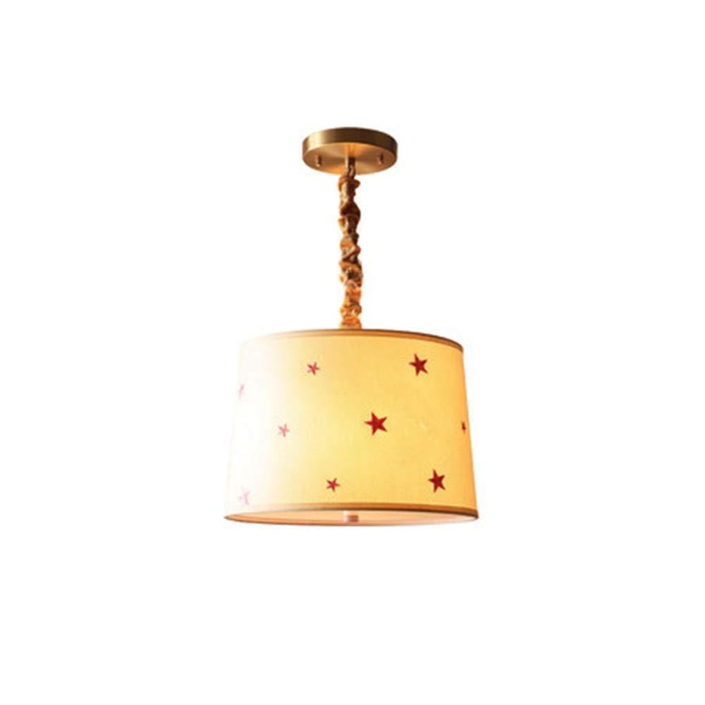 SPgorf.com - ペンダントライト シャンデリア銅シャンデリア寝室ランプ部屋子供部屋レストラン星シンプルクリエイティブ人格ランプ B07TYKMCMQ